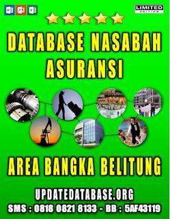 Jual Database Nasabah Asuransi Bangka Belitung