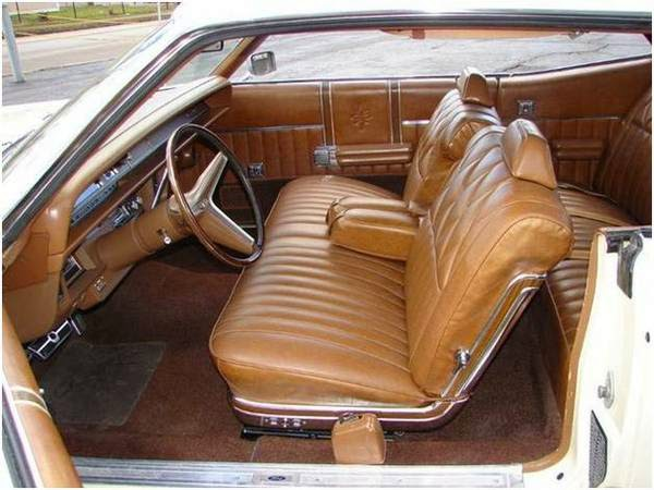 1970 Mercury Marauder X100 2 Door Hardtop With The 429 4 Barrel Engine In  Ivory With The Blacked Out Rear Deck And Brown Deluxe Interior.