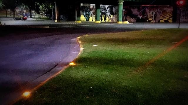La Ciudad de Buenos Aires instala tachas luminosas solares en las rotondas