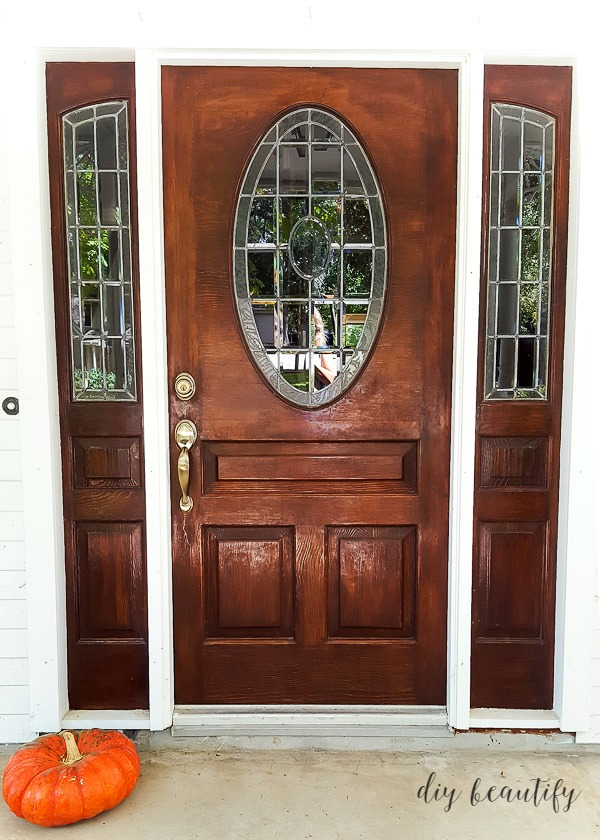 front door leaded glass