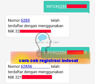 Cara cek registrasi daftar ulang kartu indosat berhasil atau tidak