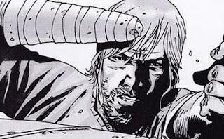 Imagem dos quadrinhos de Rick sem mão em The Walking Dead