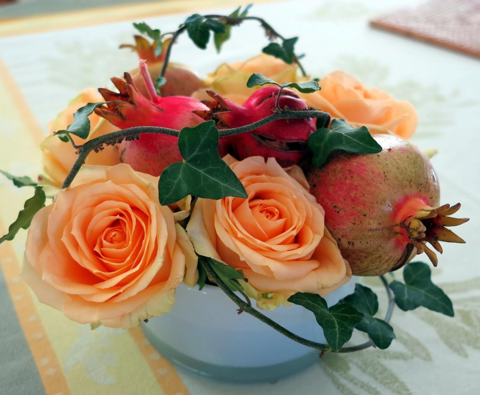 Composition Florale Centre De Table Automne ambiances et gourmandises de mj: couleurs d'automne  chic