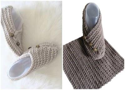 Cómo tejer zapatillas con un rectángulo o cuadrado