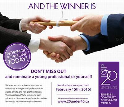 20 under 40 nomination