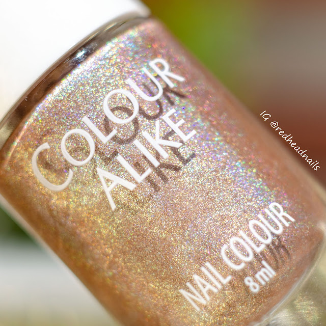 "Colour Alike ""Tropical Rainbow"" holo stamping swatches"