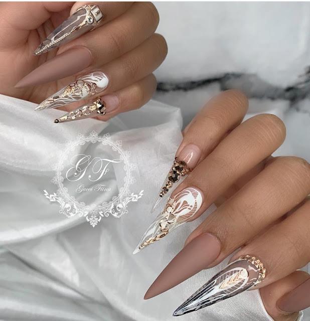 cute nail colors for brown skin