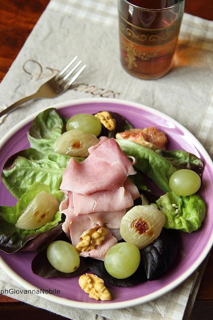 Insalata con lattughino, prosciutto cotto Lenti & Lode