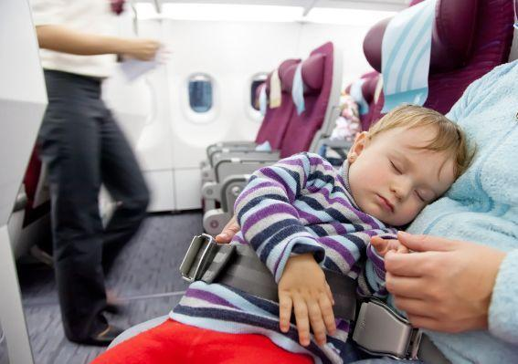 Long haul flight with newborn