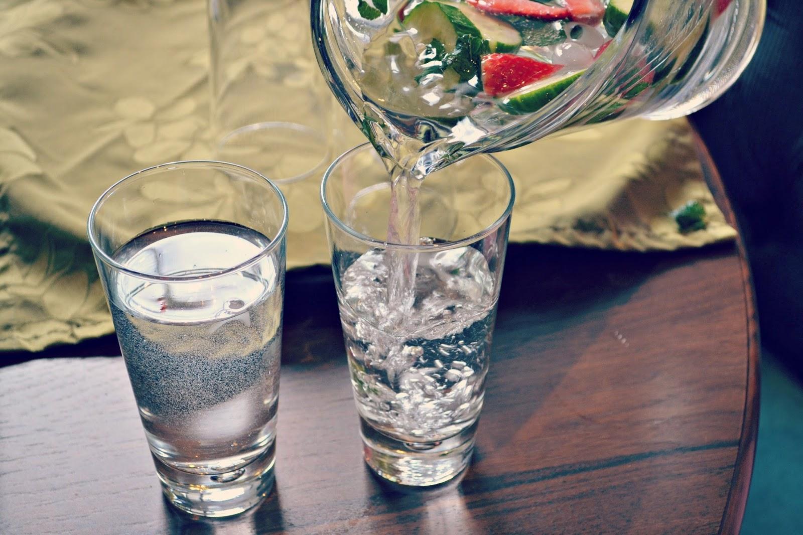 Blogger spa day at Harington House fruit water