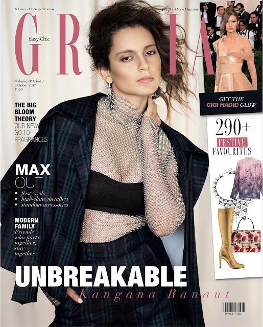 Kangana Ranaut Looks So Hot On Grazia India Magazine Latest Issue