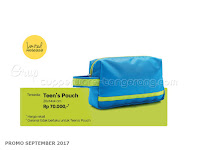 Teens Pouch Promo Tupperware September 2017