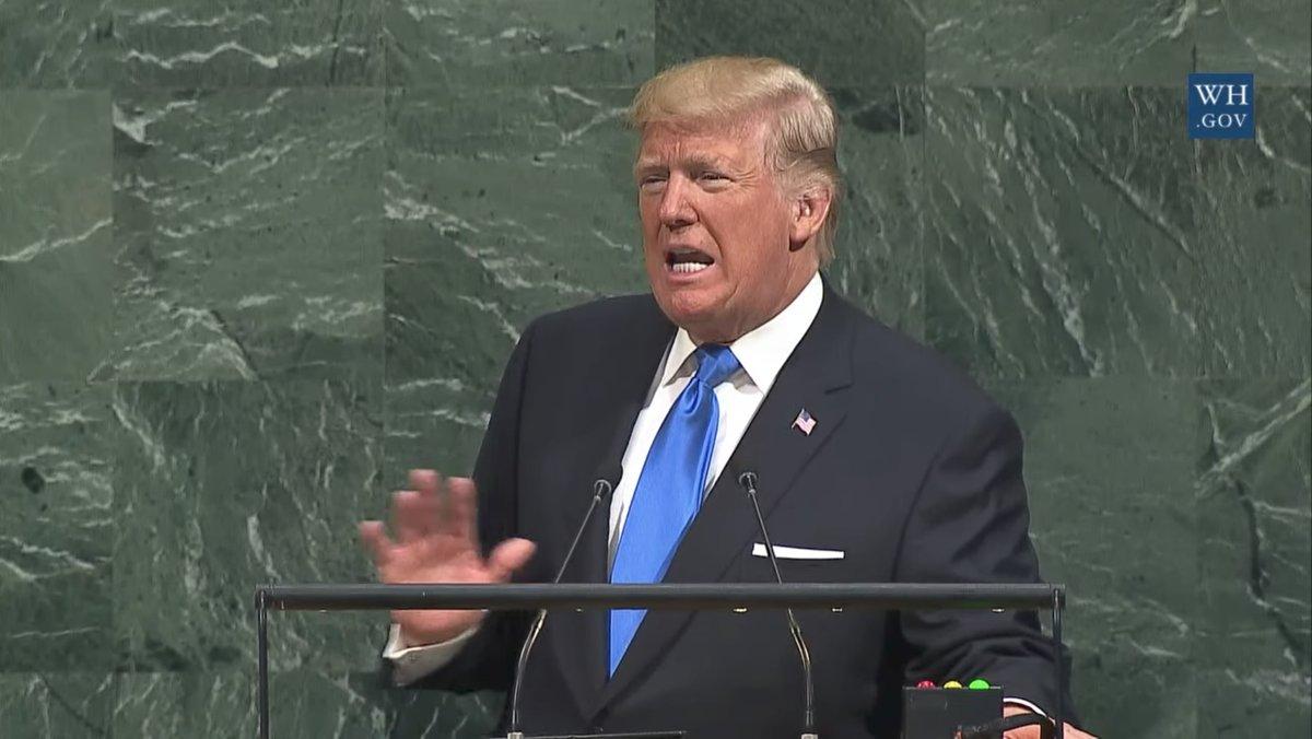 Donald Trump dio su primer discurso formal como presidente ante el pleno de ONU