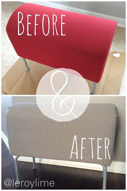 Quick Bench Makeover - Before & After - LeroyLime