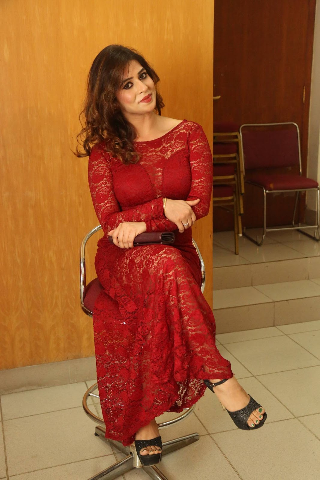 Actress Nandini sizzling in red-HQ-Photo-18