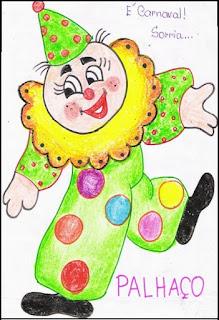 Desenho palhacinho carnaval