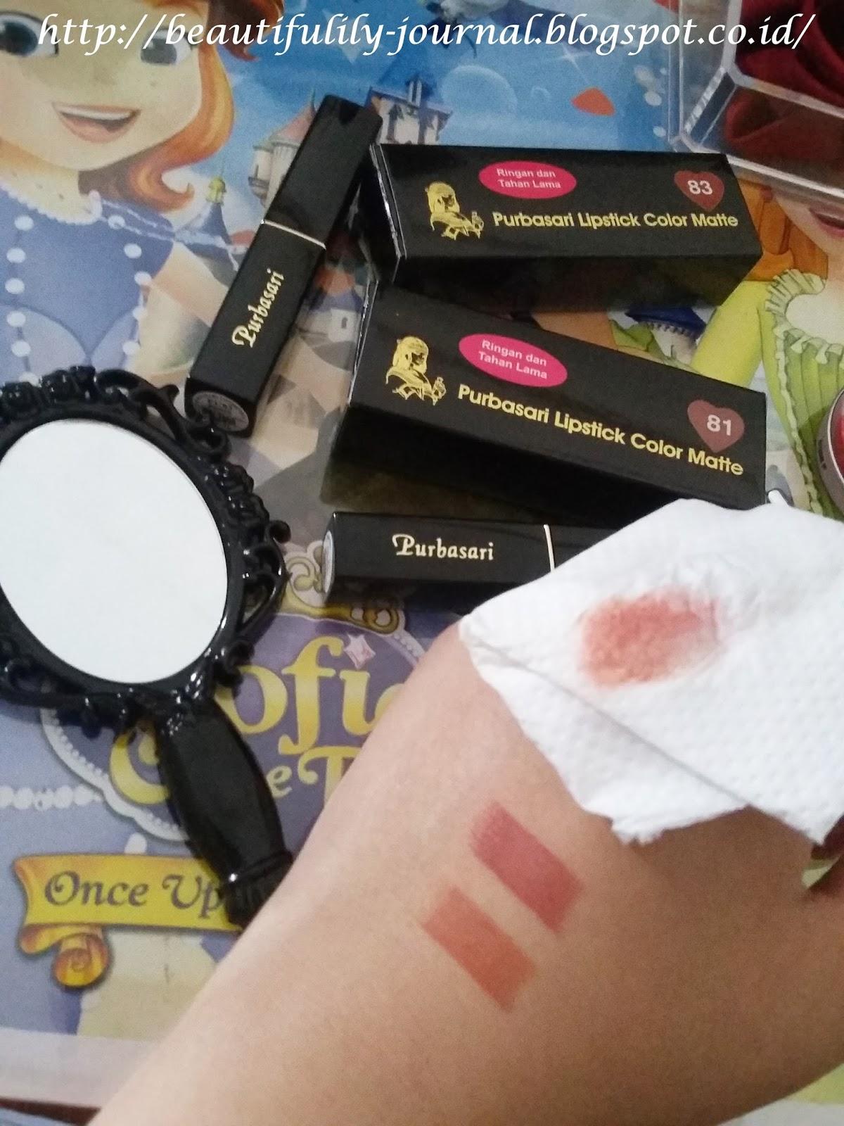 Beautifulily Journal Review Purbasari Lipstick Color Matte In 81 Colour And What Nya Tetap Nempel Nggak Bergoyah Bahkan Udah Aku Pakai Makan Siang Ku Wudhu Masih Walau Mulai Pudar Sedikit