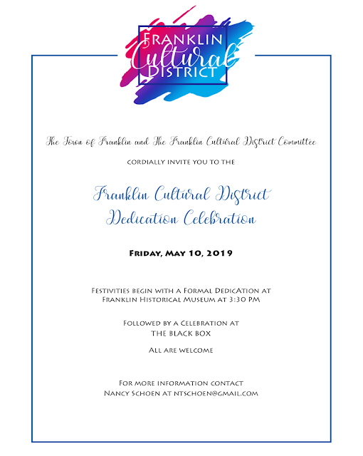Franklin Cultural District Invitation - May 10, 2019