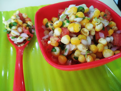 5 minutes: Corn Chaat Recipe