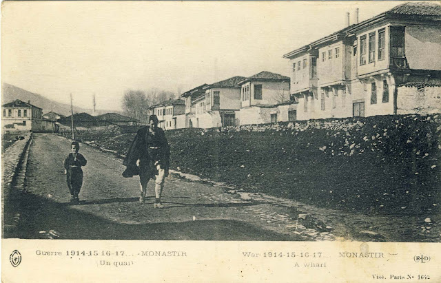 Postcard near Dragor river, published 1917