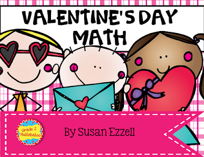 Valentine's Day math activities for second graders.