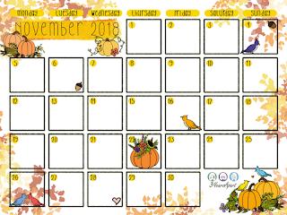 November 2018 Free Calendar Download!