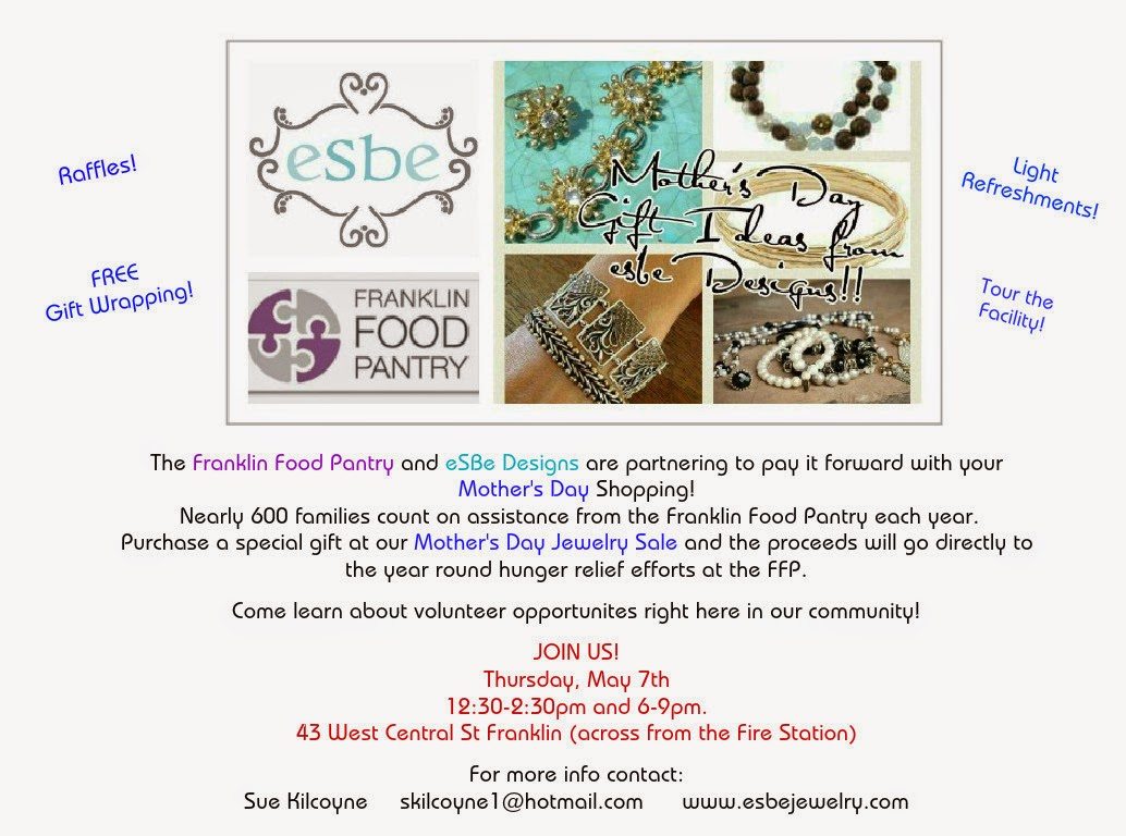 Mother's Day Jewelry Sale at the Franklin Food Pantry