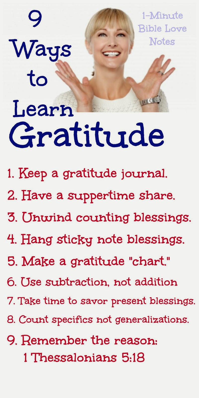 practicing gratitude, learning gratitude, ideas for being more grateful