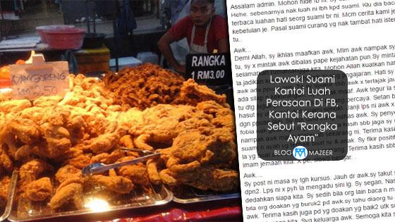 """Luahan """"Rangka Ayam"""" Suami Isteri Buat Netizen Terhibur"""