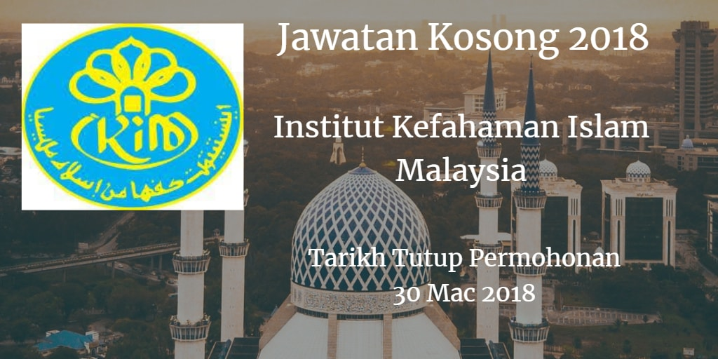 Jawatan Kosong IKIM 30 Mac 2018