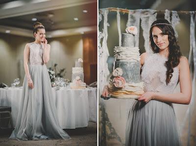 Serenity blue jako kolor przewodni ślubu.