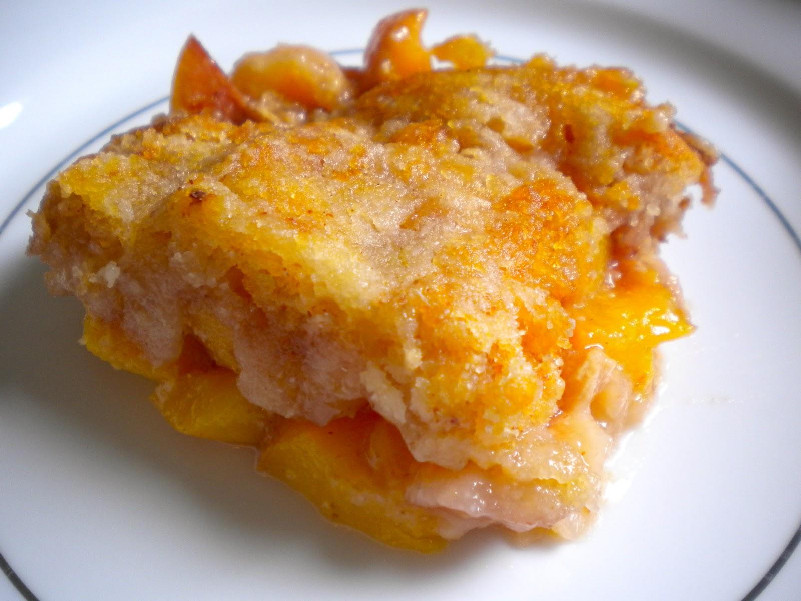 Gluten Free Peach Dump Cake