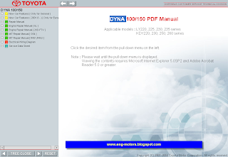 Toyota Dyna 100/150 Service Manual Full