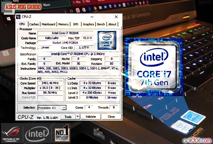 ASUS ROG GX800 didesain dengan prosesor Quad Core Intel Core i7- 7820HK