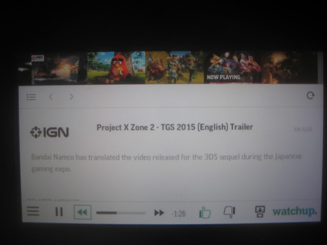 Watchup IGN Project X Zone 2 Wii U Gamepad interface