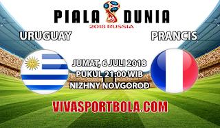Prediksi Bola Uruguay vs Prancis 6 Juli 2018