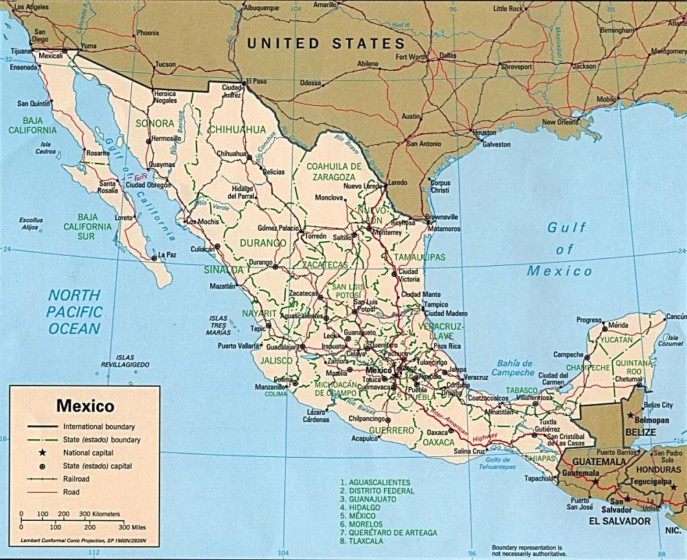 Estados De México: PZ C: Mapa Mexico