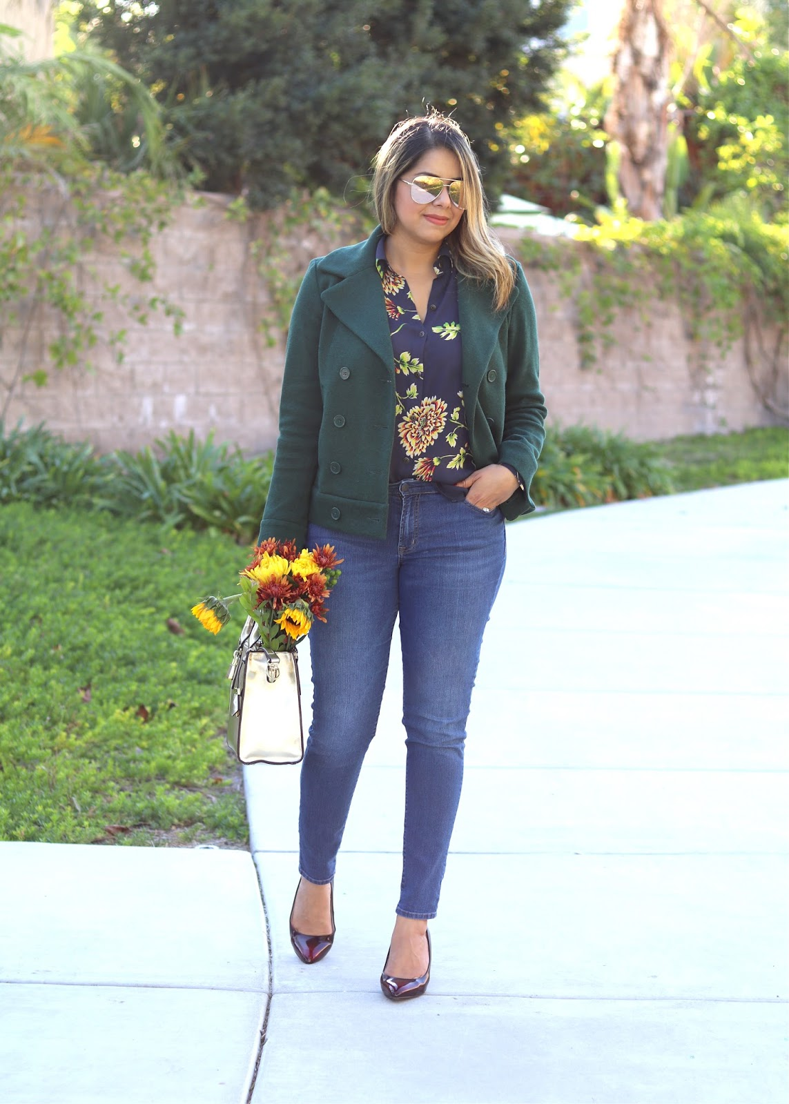 cabi fashion blogger, green coat outfit, fall 2016 outfit