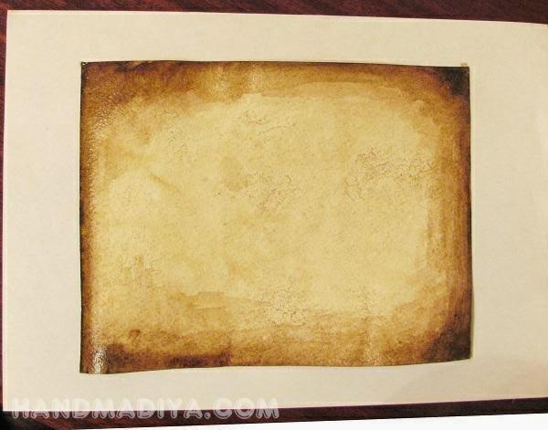 Винтажная картинка открытка своими руками. Мастер-класс. Vintage picture handmade