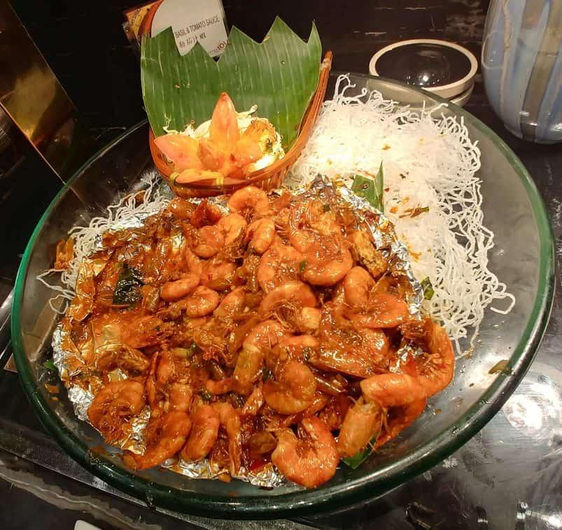 Shrimps at Buffet 101 Restaurant