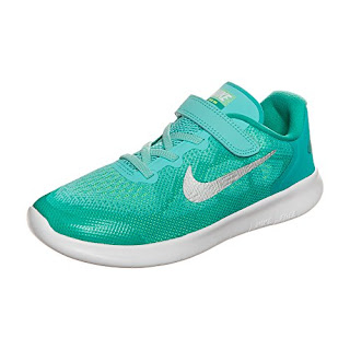 d903d6dffb774  girl  shoes NIKE Kid s Free RN (PSV) Running Shoes (Aurora Green Metallic  Silver