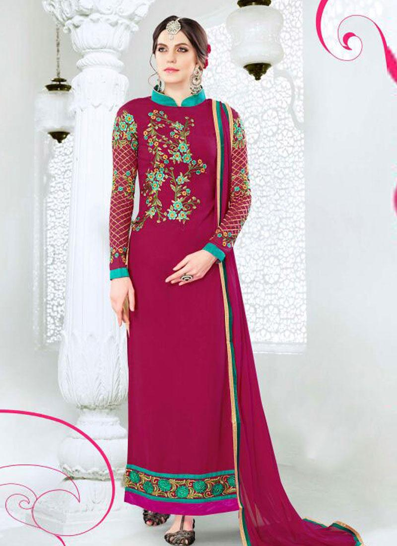 VOL-43- Designer Heavy Long Straight Semi Stitched Salawar Suit