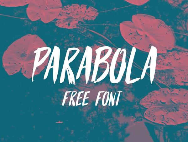 Brush font terbaik 2017 - Parabola – Free Brush Font