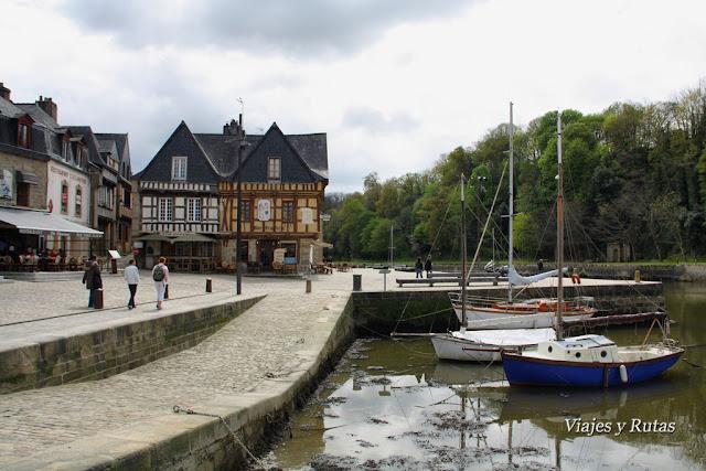 Barcos en Auray, Bretaña, Francia