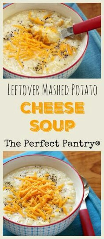 Leftover Mashed Potato Cheese Soup. Foto: The Perfect Pantry