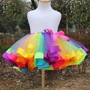 designer rainbow tulle tutu