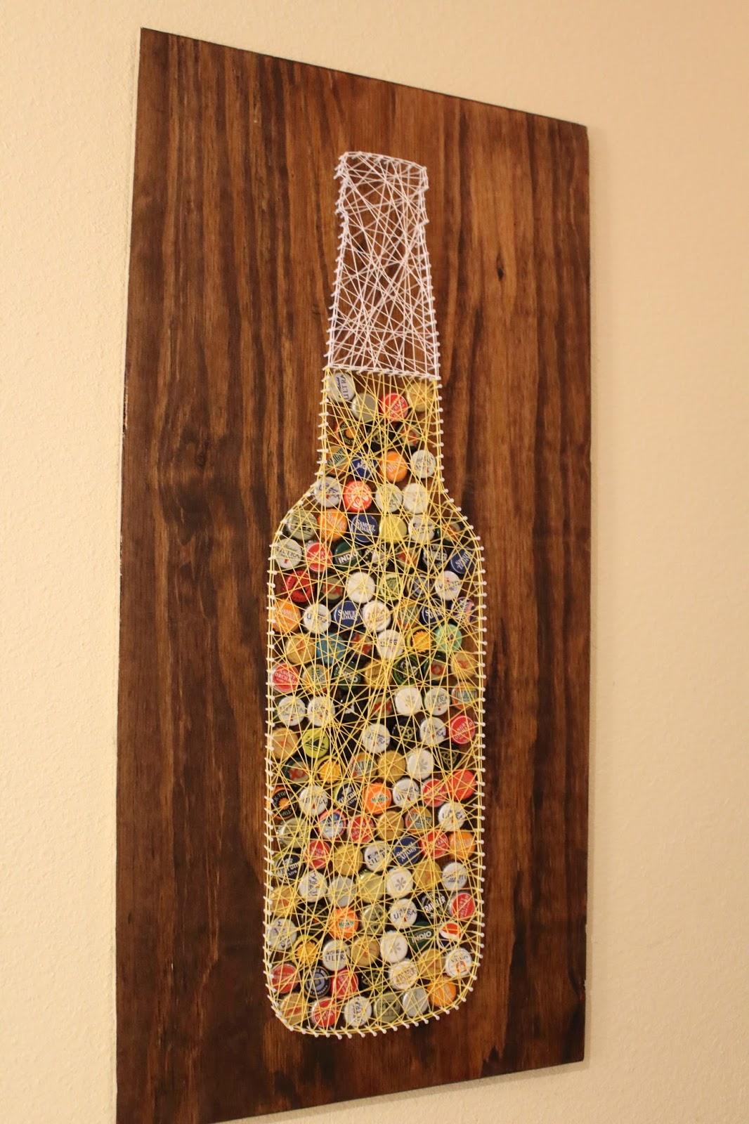 Diy bottle cap string art tutorial sam rhymes with ham for Bottle cap mural tutorial
