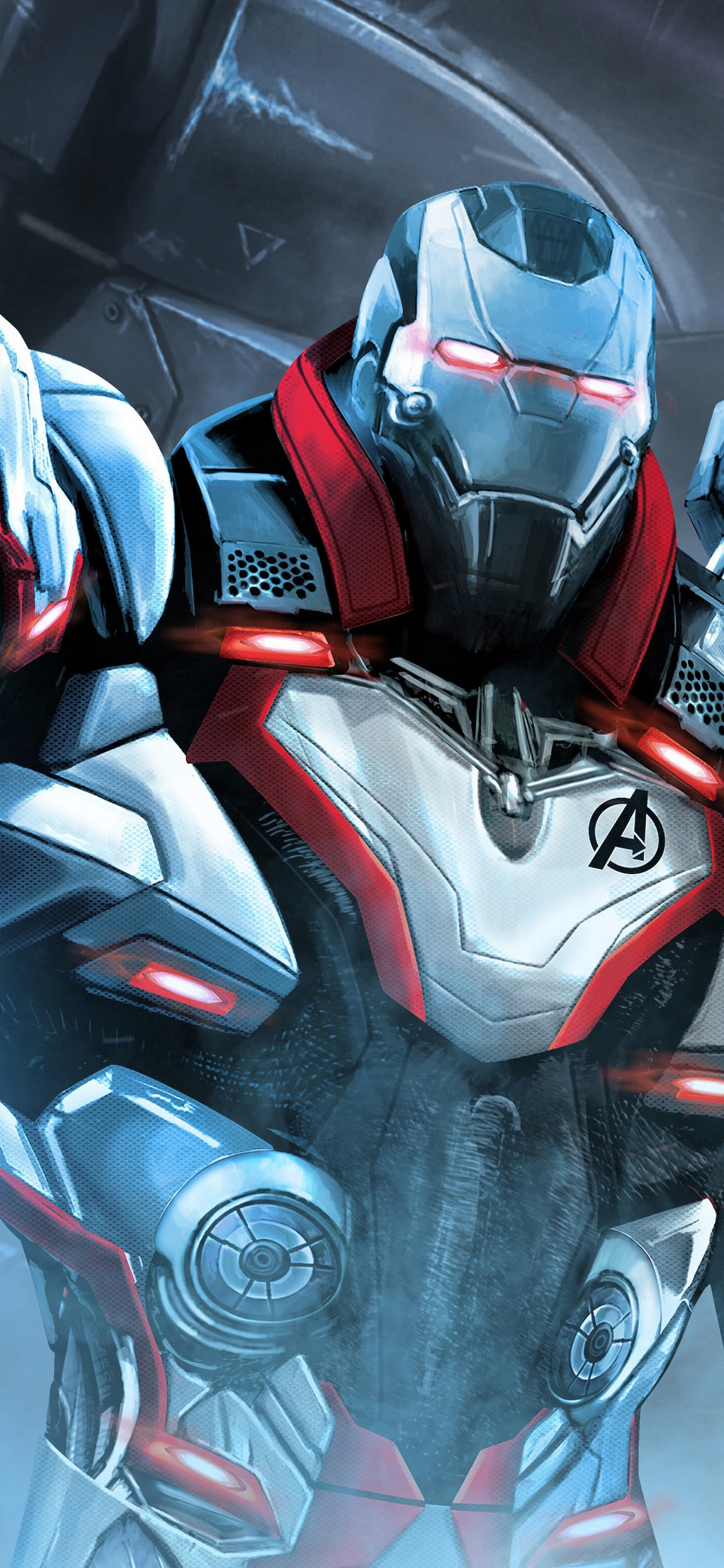 Avengers Endgame War Machine White Suit 4k Wallpaper 14