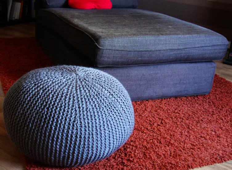 the drizzle of honey knitted sit pouf. Black Bedroom Furniture Sets. Home Design Ideas