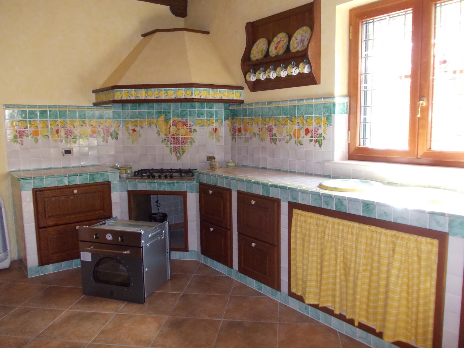 Foto Cucine In Muratura Da Esterno. Panchine Da Giardino In ...